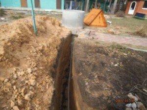 Траншея водоснабжение дачи Сансейтехник