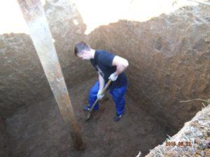 Котлован для кессона - погреба