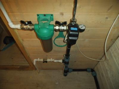 один из вариантов ввода воды в дом